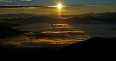 New light coming ! (Yoshia-Y) Tags: sea cloud sunrise mtkisoontake