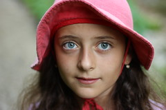 Lana (Luka Djurasovic) Tags: blue girl contrast canon rebel eyes focus bokeh sharp slovenia 18 selective 50m t3i slovenian sharpness 600d