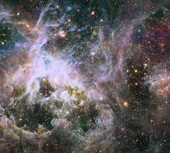 New Hubble infrared view of the Tarantula Nebula (europeanspaceagency) Tags: hubble hubblespacetelescope tarantulanebula r136 30doradusnebula