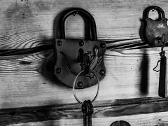 Lock B&W (Joonas Lappetelinen) Tags: bw white black nikon lock coolpix lightroom p520