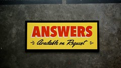 Answers on Request (scottboms) Tags: signs design handpainted projects facebook signpainting analogresearchlab 2014signs