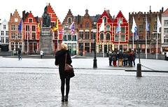 grigio pioggia (desvisages.desfigures) Tags: winter belgique hiver pluie rainy bruges inverno pioggia belgio