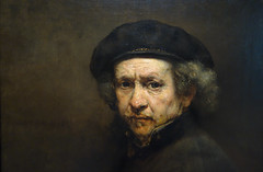 Rembrandt, Self-Portrait (detail of head), 1659