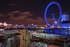 Westminster Pier, London (Neil Pulling) Tags: uk england london westminster millenniumwheel thames night nightshot riverside londoneye nightview riverthames a77 sonyalphaa77