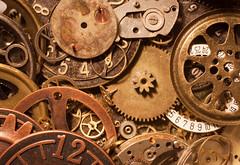 wheels and dials 03 feb 14 (Shaun the grime lover) Tags: detail macro clock metal watch wheels brass gears dials gearwheels