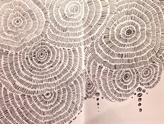 Flower's memory (sleepycatxue) Tags: arts sketchbook zentangle