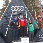 NORAM Super Combined Overall Podium    Tyler Werry Second  Broderick Thompson Third                     PHOTO CREDIT: Brian Werry
