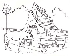 This Donkey Is No Fool (Namey McNamerson) Tags: zoo book indianapolis coloring 1965