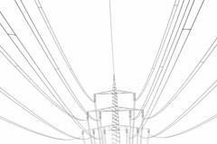 Verstromt (farbfreiraum) Tags: deutschland hessen energie sw strom netz verbindung strommast linien vernetzt stromnetz schwarzweis