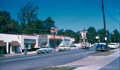 Street scene, circa 1956 (Railroad Jack) Tags: