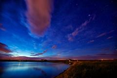 Prairie Night (John Andersen (JPAndersen images)) Tags: longexposure night clouds reflections stars bravo alberta strathmore zodiacallight canon6d calgarynightphotographers matrimoniallake