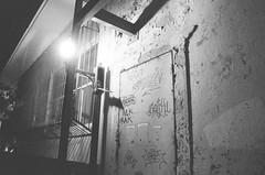Panama City, Panama  May 2015 (jjstarr3) Tags: travel blackandwhite bw film alley 28mm streetphotography delta cigars panama canonae1 3200 ilford f28 panamacity centralamerica cubans canonfd