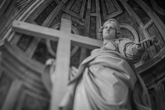 Saint Helen at St. Peter's Basilica (Michael Mendonca) Tags: light summer sky people blackandwhite italy white black rome roma art church colors statue stairs contrast lens 50mm nikon ruins warm catholic place cross f14 thing free sigma lightleak staircase dome organic 24mm nikkor leak downward thevatican stpetersbasilica vibrance romeitaly windingstaircase 2015 thecolosseum thepantheon sainthelen hurding d700 freelens thepantheondome