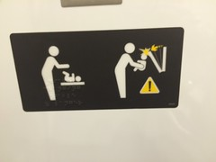 IMG_7092 (Sweet One) Tags: canada sign train warning viarail torontotomontreal donthityourbabyontheheadwiththechangingtable