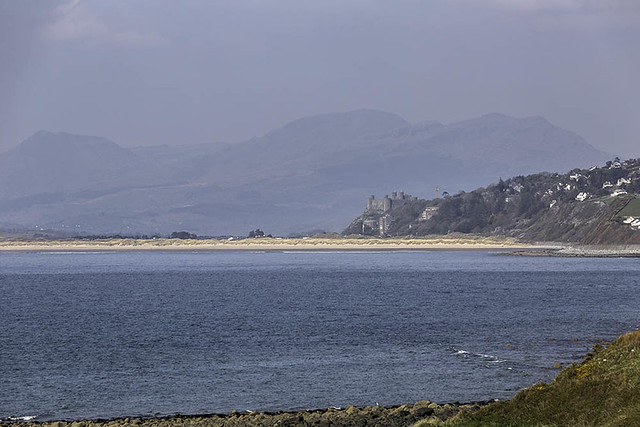 Harlech Castle from Shell Island
