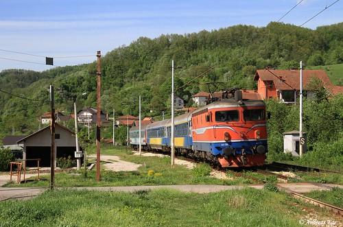 Ein Fernverkehrszug aus Zagreb