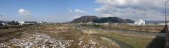 Hino River at Echizen city: looking north, downstream (anthroview) Tags: panorama stitchedpanorama canons110 915 fukuiken takefu echizencity echizenshi