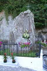 Roccia tufacea prima sede del quadro dedicato alla Vergine