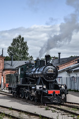 Hv3 555 (Arttu Uusitalo) Tags: finnishrailways railway steam locomotive hv3 555 museum day old summer august 2012 nikon d3100 railroad engine