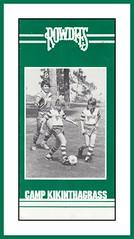 "Camp Kickinthegrass Brochure, 1983 (Cosmo's ""ART"" Gallery) Tags: soccer nasl northamericansoccerleague tampabayrowdies brochure camp tatu 1983 campkickinthegrass"