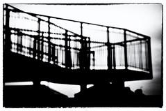 The Memory Bridge (Clive Varley) Tags: bw gimp2814partha silverefexpro2 nikond90 blackpool