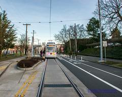 Behind A First Hill Seattle Streetcar (AvgeekJoe) Tags: d5300 dslr firsthillstreetcar nikon nikond5300 seattle seattlestreetcar masstransit publictransit publictransportation streetcar urbanrail