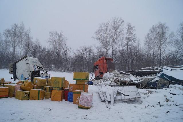 Под Сызранью вДТП уфуры оторвало кабину
