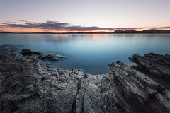 Oslofjorden (eriknst) Tags: oslo fjord water oslofjord long exposure seascape landscape blending rocks sea ocean sky clouds onk purple blue march 2017 nikon d810 1424mm f11 learning testing practicing photography nd filter 10stops nature pink spring