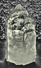 Day 90. (lizzieisdizzy) Tags: inside indoors stilllife table light crystal rock geode point facet clear cloudy inclusion faceted inclusions pointed angular transparent quartz healing metaphysical stone balancing energy protective