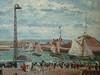 PISSARRO Camille,1903 - L'Anse des Pilotes et le Brise-lames Est, Le Havre, Après-Midi, Temps ensoleillé (Le Havre) - Détail 12