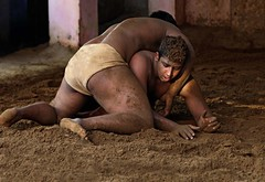 "Kushti Wrestling (grab a shot) Tags: ""eos 7d mark ii"" india newdelhi guruhanumanakhara akhara gym kushti wrestling wrestle wrestler 2017 sport outdoor sand male men"