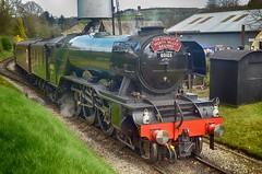 Oxenhope Arrival (_J @BRX) Tags: oxenhope pacific 4472 103 502 1472 nikon d5100 brunswickgreen lner a3 462 60103 flyingscotsman scotsman londonnortheasternrailway br britishrailways locomotive train kwvr keighleyworthvalleyrailway april yorkshire england uk worthvalley spring 2017 nrm nationalrailwaymuseum