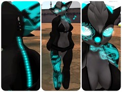 Small details. (Sugar {FeeFee.Flux}) Tags: life game rabbit bunny female boobies glow tits dragon mesh boobs horns sugar sl flux secondlife virtual poi second headphones undies hotness claws cyber tubby eletronic viss feefee