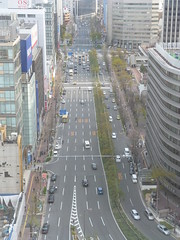 The width of the streets (seikinsou) Tags: sky japan hall spring view terrace departmentstore osaka hankyu
