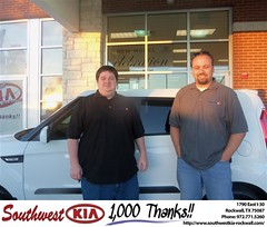 Southwest KIA of Rockwall would like to say Congratulations to Warren Lewis on the 2013 Kia Soul (Southwest Kia Rockwall) Tags: new southwest car sedan truck wagon happy dallas texas tx used vehicles mesquite bday dfw kia van suv coupe rockwall dealership hatchback dealer customers minvan 4dr metroplex shouts 2dr preowned