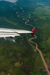 Brazil, Rio de Janeiro, flying to Rio (Michal Jacobs) Tags: travel brazil sky southamerica clouds airplane daylight fly flying day aircraft transport wing aeroplane transportation daytime traveling winglet wingtip