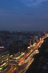 twilight (trek3500) Tags: light sky sun twilight cityscape trail nightlife dhaka moment lightshadow bangladesh lighttrail cannon600d