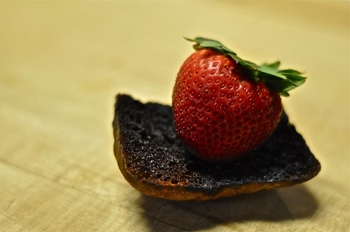 Strawberry on Burnt Bread
