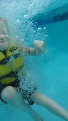 OLYMPUS DIGITAL CAMERA (drjeeeol) Tags: water pool swim under charlie fav triplets toddlers lessons 2013 57monthsold