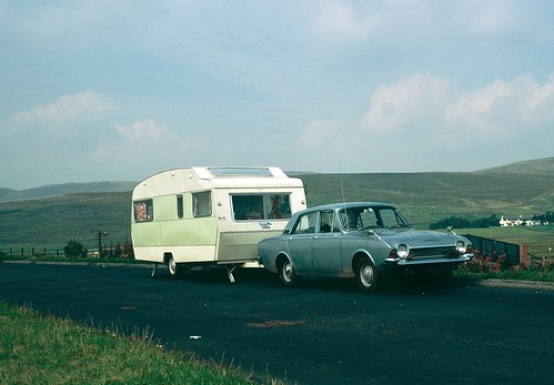 Ford Corsair and Sprite Major in Scotland 1970