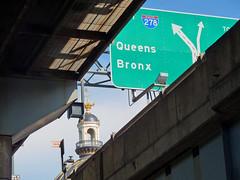 Decisions NYC (Jeffrey Friedkin) Tags: auto nyc bridge newyork building church architecture brooklyn outdoors photography photo highway bronx newyorker queens williamsburg bqe newyorkphoto