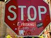 DUMBO-Frisking (plutohead) Tags: nyc newyorkcity red urban streetart newyork art brooklyn graffiti dumbo gothamist curbed sfist laist