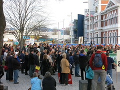 GCSB Protest - Cathedral Square