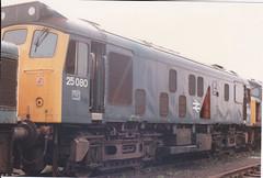 25080 1st June 1986 Toton Depot (Ian Sharman 1963) Tags: june train rat diesel 1st engine loco class 25 depot 1986 toton 25080