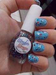 Blog - Ana Hickmann + Wonder Woman - BBF (Natalia Breda) Tags: azul glitter bbf desafio anahickmann esmaltenacional indiepolish