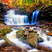 Fall color and waterfalls - 1st Place - Published - Al Perry
