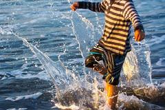 summer kicks (JKG II) Tags: ocean california venice sea beach nature water glass beauty set children fun kid break pacific time kick earth wave crest gravity freeze moment pressure liquid