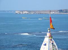 Diu, India (east med wanderer) Tags: sea india boats temple coast shrine religion hinduism diu diuisland theindiatree shivashrine