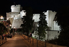 Croatia-01532 -  Mineta Tower at Night (archer10 (Dennis) REPOSTING) Tags: tower wall night town tour sony free croatia walls