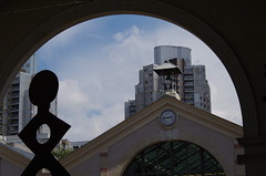 "Keith Haring sculpture and ""Orgues de Flandres"" building - Paris"